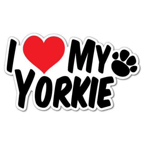 I Heart My Yorkie Sticker