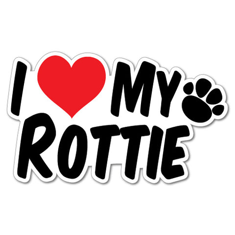 I Heart My Rottie Sticker