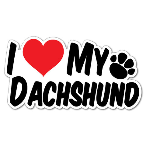 I Heart My Dachshund Sticker