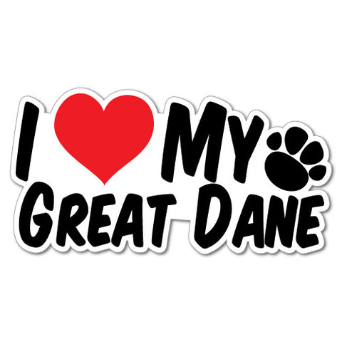 I Heart My Great Dane Sticker