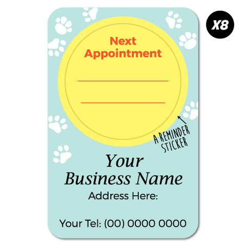 8X Custom Next Appointment Pet Vet Reminder Sticker