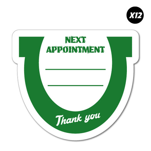 12X Next Appointment Horseshoe Farriers Service Sticker