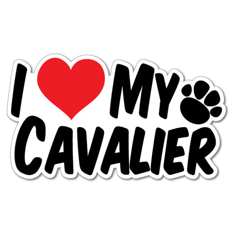 I Heart My Cavalier Sticker