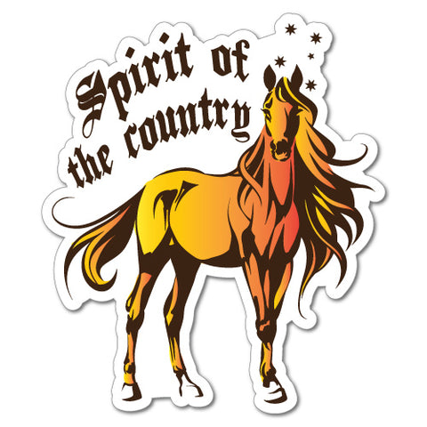 Spirit Of The Country Horse Sticker