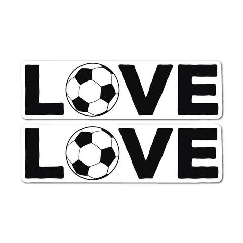 2X Soccer Love Sticker Decal