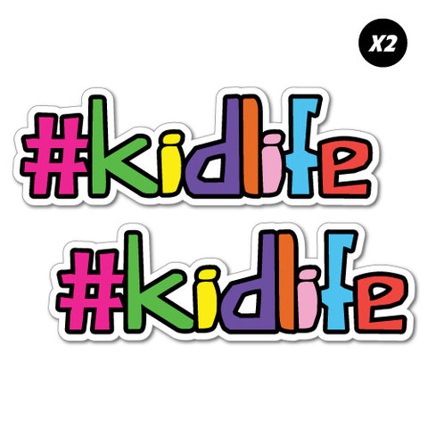 2X Hashtag Kidlife Junior Ride On Kid Car Toy Sticker