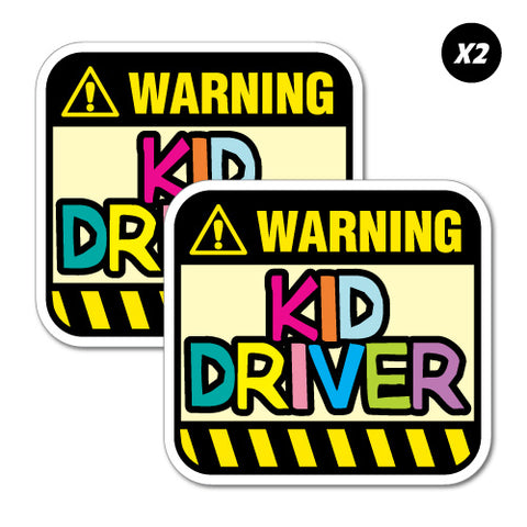 2X Kid Driver Warning Junior Ride On Kid Car Toy Sticker