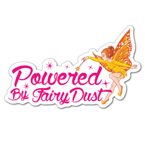 Powered By Fairy Dust Junior Ride On Kid Car Toy Sticker
