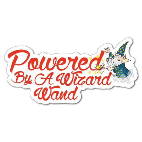 Powered By A Wizard Wand Junior Ride On Kid Car Toy Sticker