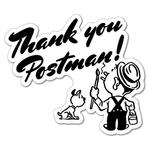 Thank You Postman Letterbox Post Box Sticker