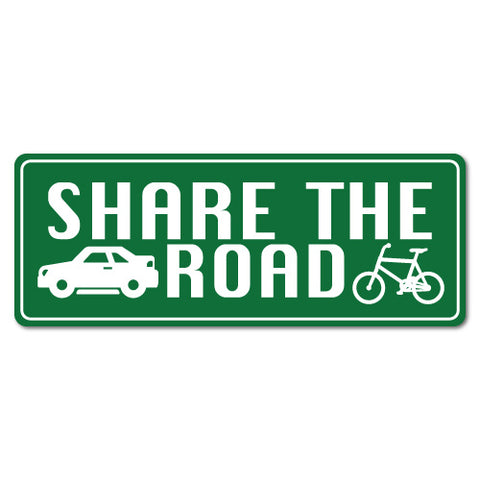 Share The Road Bicycle Cyclist Car Sticker