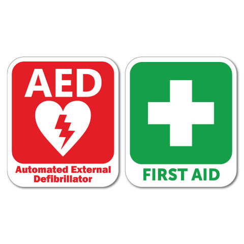 Aed Defibrillator & First Aid Sticker