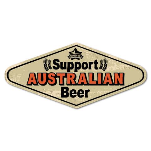 Support Australian Beer Drinking Sticker