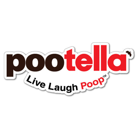 Pootella Live Laugh Poop Food Sticker