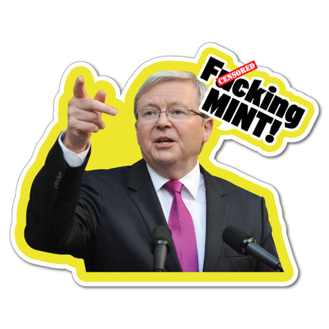 Fcking Mint Prime Minister Pop Art Politician Sticker