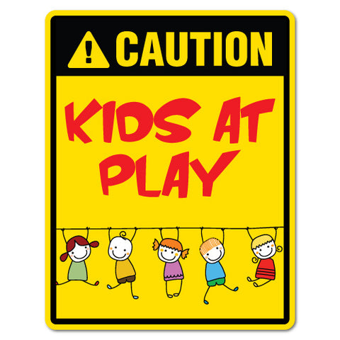 Caution Kids At Play Sticker