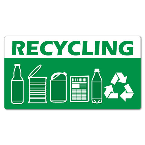 Recycling Garbage Rubbish Bin Sticker