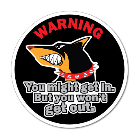 Warning Dog Doberman Pet Sticker