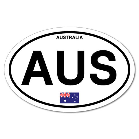 AUS Australia Country Code Oval Sticker