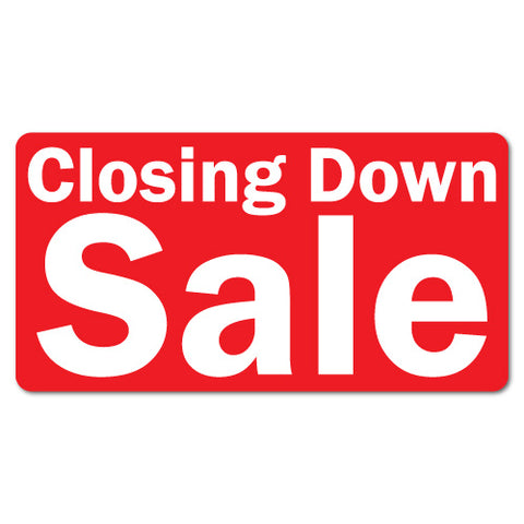 Closing Down Sale Sticker