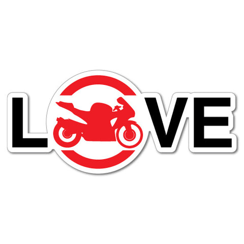 Love Motorcycle Motorbike Sticker