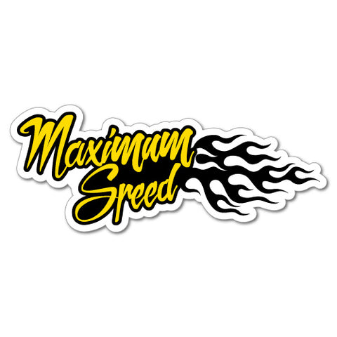 Maximum Speed Motorcycle Motorbike Car Jdm Sticker