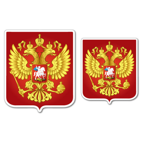 2x Russian Federation Coat Of Arms Russia Sticker