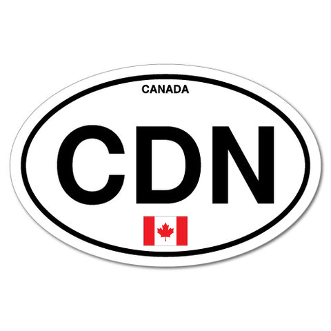 Cdn Canada Country Code Oval