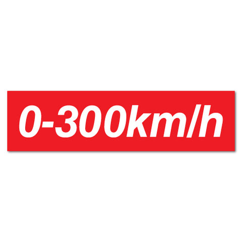 0-300Km Per Hour Speed Drift Hoon Jdm Sticker