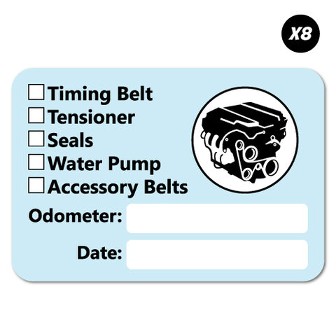 8x Service Maintenance Tick List Record Sticker