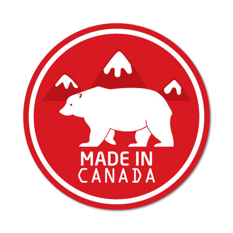 Made In Canada Bear Sticker