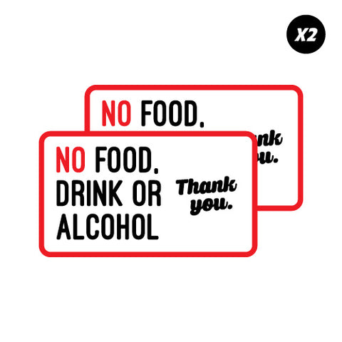 No Food, Drink or Alcohol Sticker