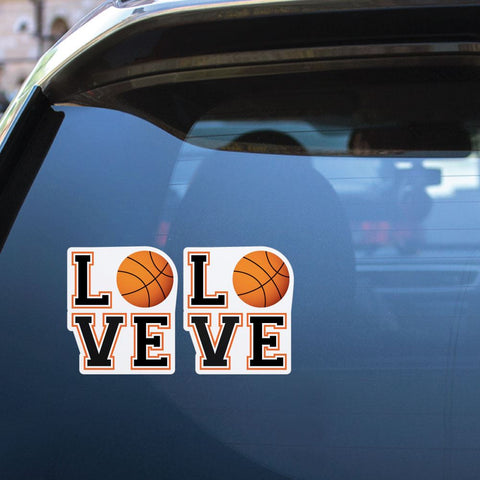 2X Love Basketball Sticker Decal