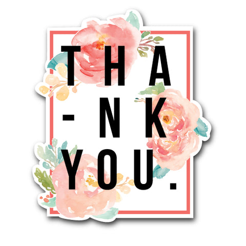 Thank You Flowers Sticker