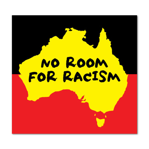 No Room For Racism Sticker