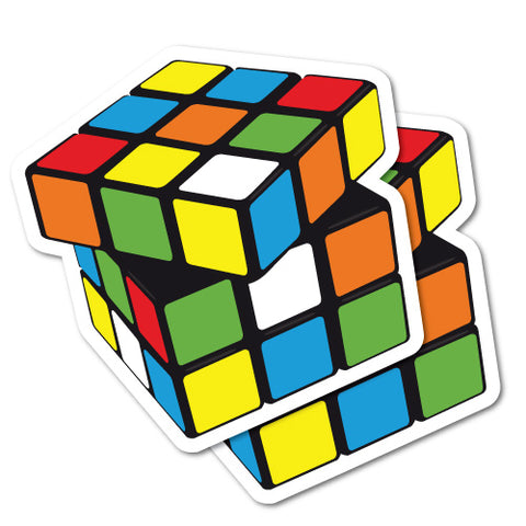 2 x Rubix Cube Stickers
