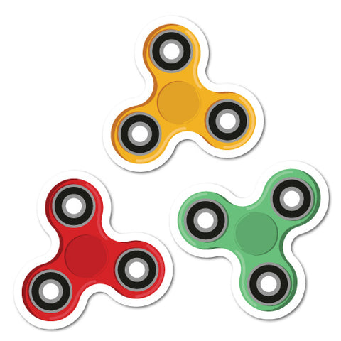 3 X Spinner Stickers