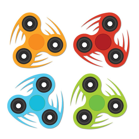 4 X Spinner Stickers