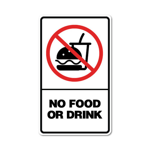 No Food Or Drink Sticker