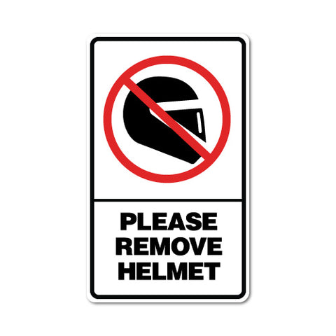 Please Remove Helmet Sticker