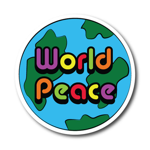 World Peace Colour Sticker