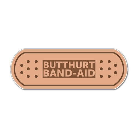 Butthurt Band-Aid Plaster Sticker Funny Car Sticker Decal