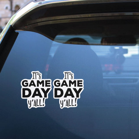 2X Its Game Day Yall Sticker Decal