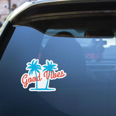 Palm Tree Good Vibes Sticker Decal