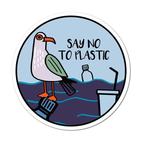 Say No To Plastic Sticker Decal