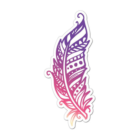 Feather Car Sticker Decal