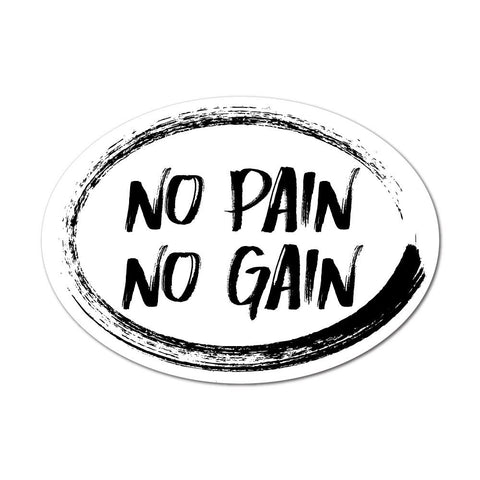 No Pain No Gain Motivation Sticker Decal
