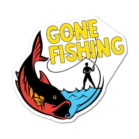 Gone Fishing Sticker Decal