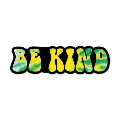 Be Kind Tie Dye Car Sticker Decal