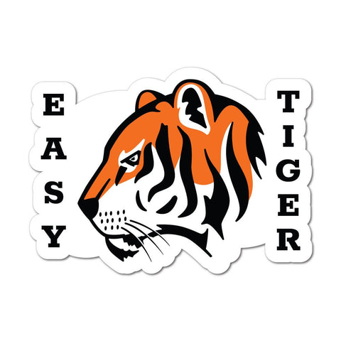 Easy Wild Cat Sticker Decal